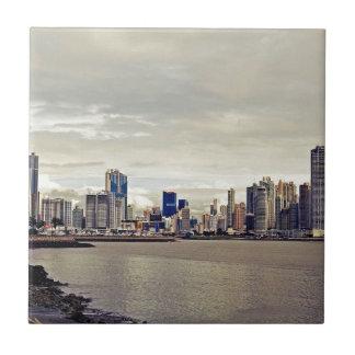 Panama City Skyline Tile
