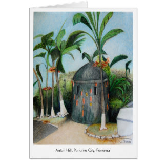 Panama Illustrated Note Card Blank Inside