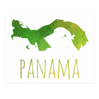 Panama Map Postcard