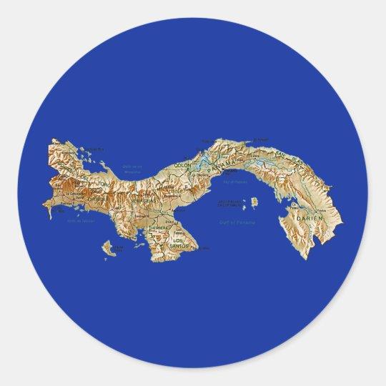 Panama Map Sticker