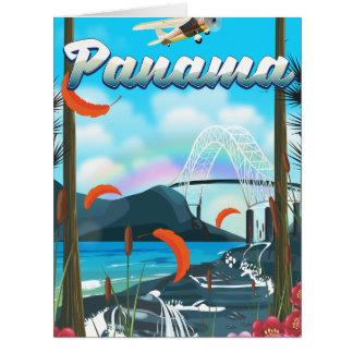 Panama River vacation print Card