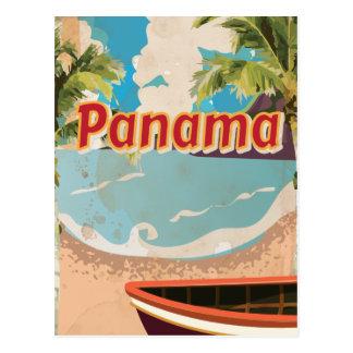Panama Vintage Travel Poster Postcard