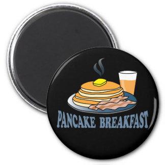 Pancake Bacon Juice Fundraiser 2 Inch Round Magnet