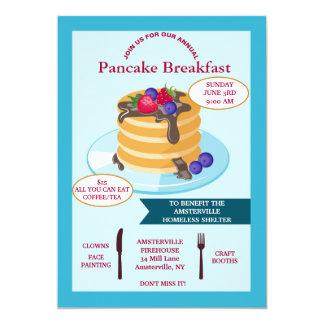 Pancake Breakfast Fundraising Invitation