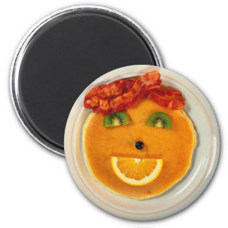 PANCAKE FACE DIETITIAN 2 INCH ROUND MAGNET
