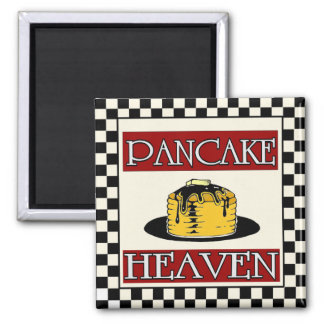 Pancake Heaven Sign Vintage Square Magnet