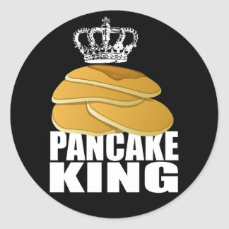 Pancake King Classic Round Sticker