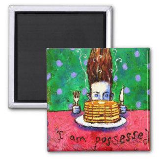 Pancake Possession Square Magnet