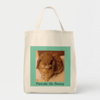 Pancake the Bunny grocery bag