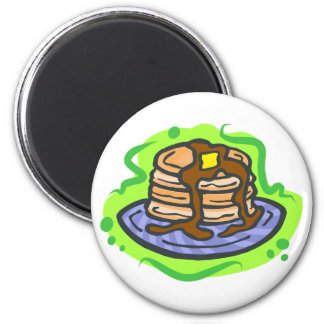 Pancakes 2 Inch Round Magnet