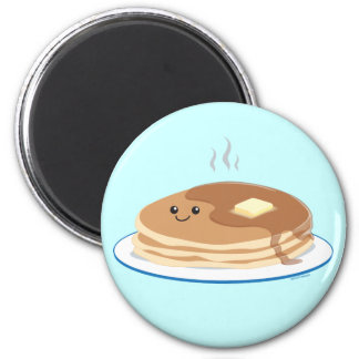 Pancakes 2 Inch Round Magnet