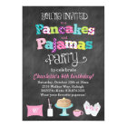 Pancakes and Pyjamas Chalkboard Style Invitation
