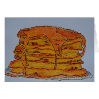 Pancakes and Syrup Blank Card