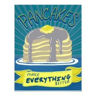Pancakes Brunch or Breakfast Invitation Card