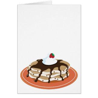 Pancakes Chocolate Card