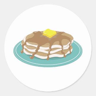 Pancakes Classic Round Sticker