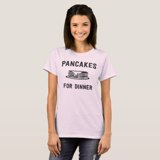 Pancakes for Dinner with Illustrated Pancake Stack T-Shirt