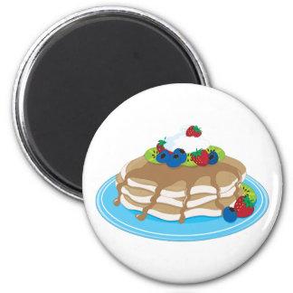 Pancakes Fruit 2 Inch Round Magnet