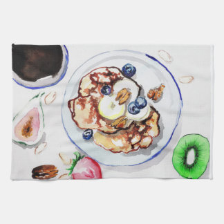 pancakes kitchen towel