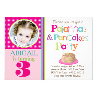 Pancakes & Pajamas Party Invitation (Photo)