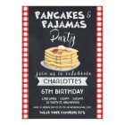 Pancakes Pyjamas Birthday Party Invitation
