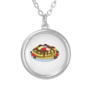 Pancakes - Shrove tuesday Silver Plated Necklace