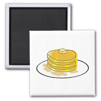 Pancakes Square Magnet
