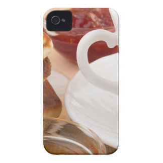 Pancakes with honey, strawberry jam Case-Mate iPhone 4 cases
