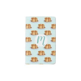 Pancakes with Maple Syrup & Polkadot Pattern Pocket Moleskine Notebook