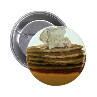 Pancakes with whipped butter 2 inch round button
