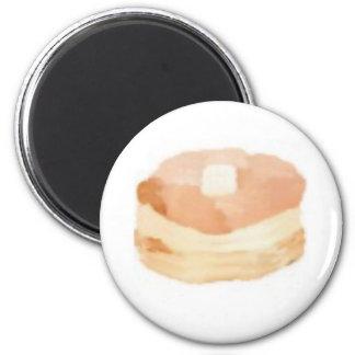 pancakesA 2 Inch Round Magnet