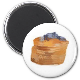 pancakesF 2 Inch Round Magnet