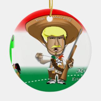 Pancho Donald Round Ceramic Ornament