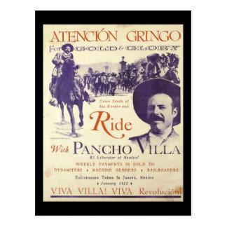 Pancho Villa Mexican Hero General Postcard