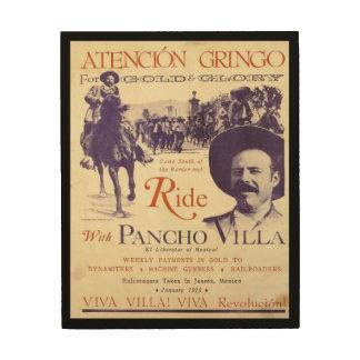 Pancho Villa Mexican Hero General Wood Wall Art