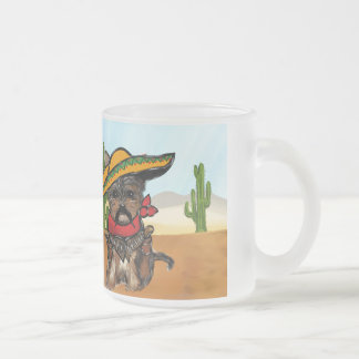 Pancho Yorkie Poo Frosted Glass Coffee Mug
