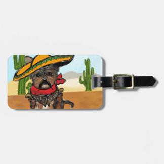 Pancho Yorkie Poo Luggage Tag