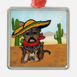 Pancho Yorkie Poo Metal Ornament