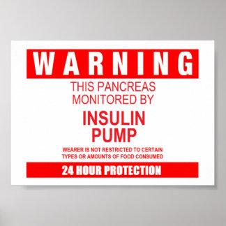 Pancreas Warning Poster