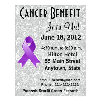 Pancreatic Cancer Awareness Benefit  Floral Flyer