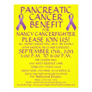 Pancreatic Cancer Benefit Flyer