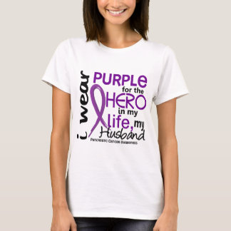 Pancreatic Cancer For My Hero My Husband 2 T-Shirt