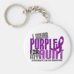Pancreatic Cancer I Wear Purple For My Aunt 6.2 Key Chain
