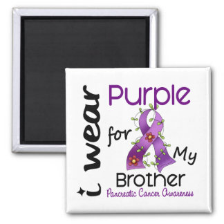 Pancreatic Cancer I Wear Purple For My Brother 43 Square Magnet