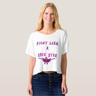 Pancreatic Cancer Rock Star Ladies Crop Top