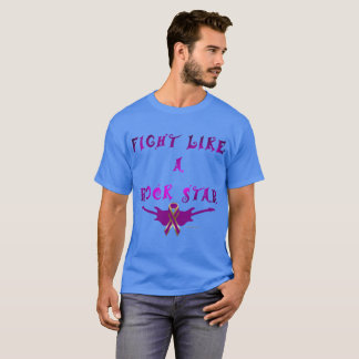 Pancreatic Cancer Rock Star Men's Dark T-Shirt