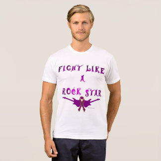 Pancreatic Cancer Rock Star Men's Poly-Cotton Tee