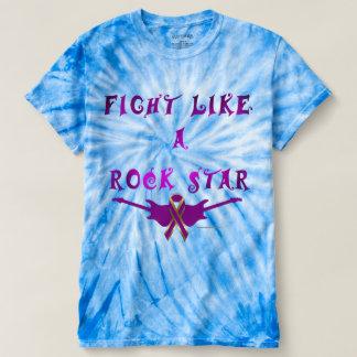 Pancreatic Cancer Rock Star Men's Tie-Dye Tee