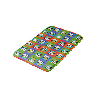 Panda 4-Square Bathroom Mat