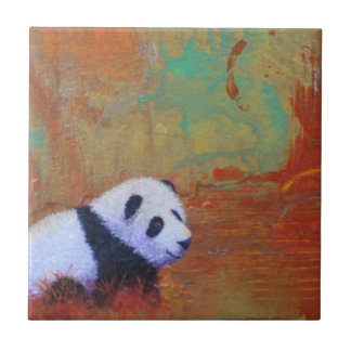 Panda Abstract Tile
